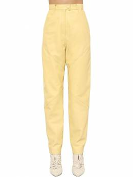 Xenia Straight Leg Leather Pants Isabel Marant 71I1JT005-MTBMWQ2