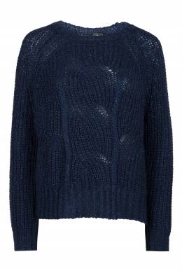Объемный свитер из темно-синей пряжи Liu Jo 1776168325