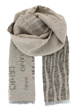 Широкий бежевый шарф с принтом Liu Jo 1776168268
