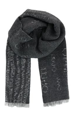 Широкий темно-серый шарф с принтом Liu Jo 1776168269