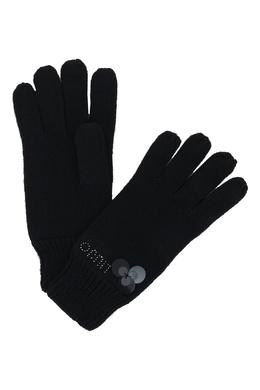 Черные перчатки с декором из пайеток Liu Jo 1776168222