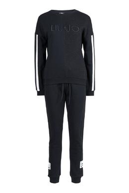 Черный костюм с контрастными полосами Liu Jo 1776168392