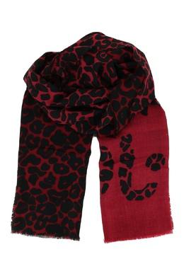 Красный принтованный шарф Liu Jo 1776168274
