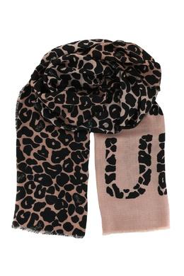 Бежевый шарф с принтом и необработанными краями Liu Jo 1776168275