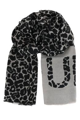 Серый шарф с анималистичным принтом Liu Jo 1776168276