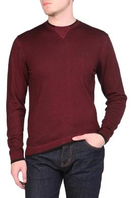 Бордовый свитер с черной отделкой Armani Jeans 1742167265