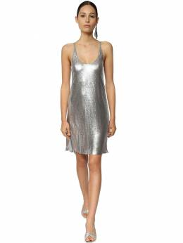 Metal Mesh Mini Dress W/ Slits Paco Rabanne 71IMDQ005-UDA0MA2