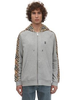 Zip-up Cotton Jersey Sweatshirt Hoodie Burberry 71IJSJ008-QTIxNDI1