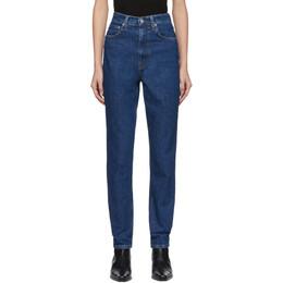 Helmut Lang Blue Denim Femme Hi Spikes Jeans 201154F06911301GB
