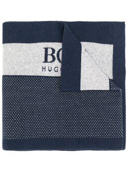 Boss Hugo Boss шарф в стиле колор-блок с логотипом 50414194