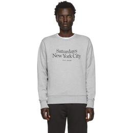 Saturdays Nyc Grey Bowery Miller Standard Sweatshirt 201899M20402002GB