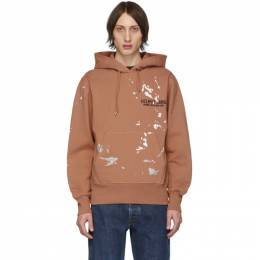 Helmut Lang Orange Painter Standard Hoodie 201154M20201301GB