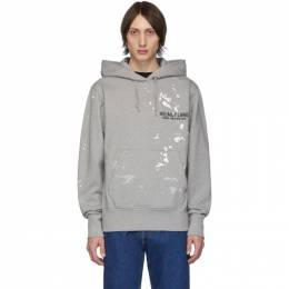 Helmut Lang Grey Painter Standard Hoodie 201154M20201205GB