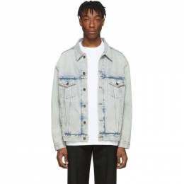 Balenciaga Blue Denim Logo Jacket 201342M17703602GB