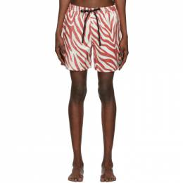 Double Rainbouu Red and White Pool Shark Swim Shorts 201062M20800705GB