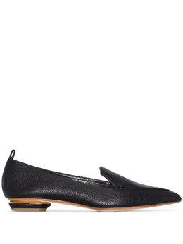 Nicholas Kirkwood Black Beya leather pointed flats 902A11VBT1
