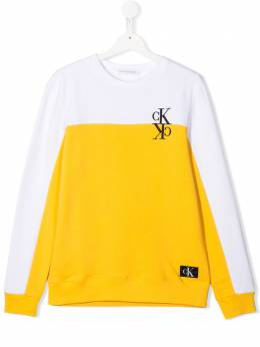 Calvin Klein Kids logo print sweatshirt IB0IB00381