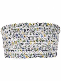 Tory Burch floral printed bandeau bikini top 45816