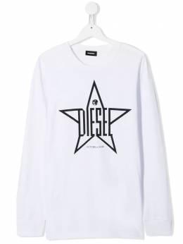 Diesel Kids футболка TDiegoYH-ML с длинными рукавами 00J4MF0091B