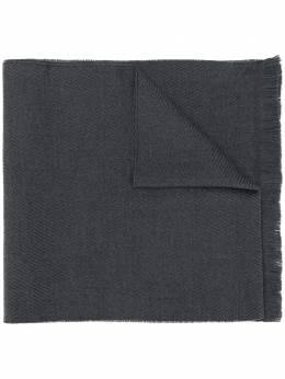 Canali шарф с вышивкой MF00157