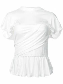 Alexander Wang футболка со сборкой и оборками 1W281075H1