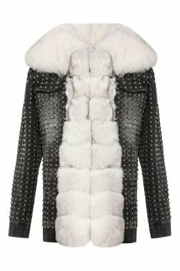 Серая куртка оверсайз из денима Philipp Plein 1795167843