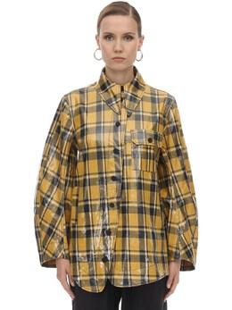 Coated Cotton Twill Jacket Ganni 71IRT7052-MDk50