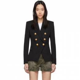 Balmain Black Wool Classic Double-Breasted Blazer 201251F05701304GB
