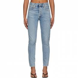 Citizens Of Humanity Blue Liya High-Rise Classic Fit Jeans 201030F06901705GB