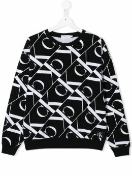 Calvin Klein Kids TEEN all over logo print sweatshirt IG0IG00416