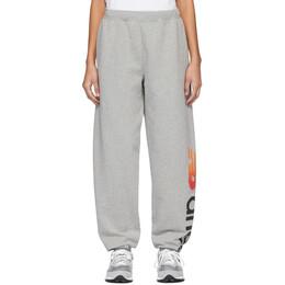 Aries Grey New Balance Edition Logo Lounge Pants 201136F08601203GB