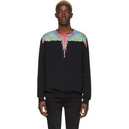 Marcelo Burlon County Of Milan Black Fluo Wings Sweatshirt 201539M20104302GB