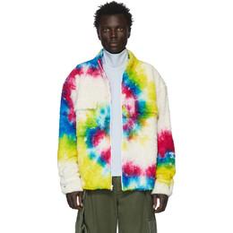 The Elder Statesman Multicolor Sherpa Rings Jacket 201014M18000802GB