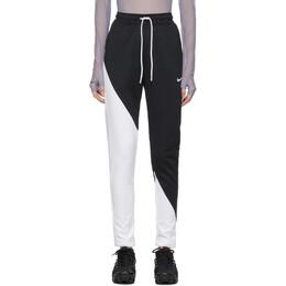 Nike Black and White Swoosh Lounge Pants 201011F08601701GB