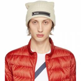 Moncler Off-White Knit Beanie 9Z70000V9068004