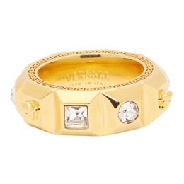 Versace Gold Crystal Palazzo Medusa Band Ring 201404M14720601GB