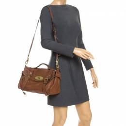 Mulberry Brown Leather Alexa Shoulder Bag 247476
