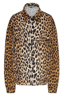 Леопардовая куртка из хлопкового тика Balenciaga 397168662