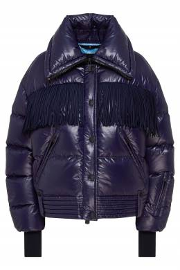 Синяя куртка с бахромой Pourri Moncler 34167977