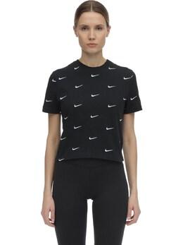 Nrg Swoosh Logo Cotton T-shirt Nike 70IXTR033-MDEw0
