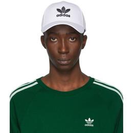 Adidas Originals White and Black Trefoil Cap FJ2544