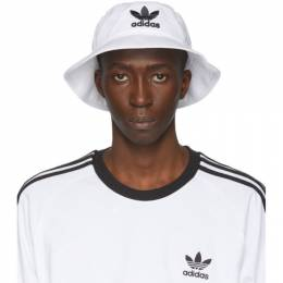 Adidas Originals White and Black Adicolor Bucket Hat BK7350