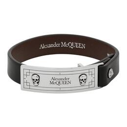 Alexander McQueen Black Identity Bracelet 6025651BU0Y