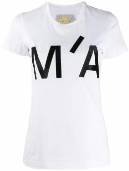 Marques'Almeida футболка с вышитым логотипом и круглым вырезом TP0178JRS