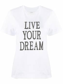 Alberta Ferretti футболка с принтом Live Your Dream 07011672