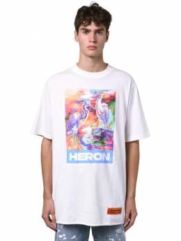 Heron Print Over Cotton Jersey T-shirt Heron Preston 71IWHP010-MDE4OA2