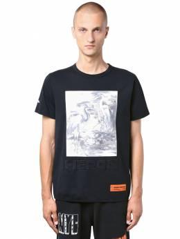 Heron Birds Print Cotton Jersey T-shirt Heron Preston 71IWHP006-MTA4OA2