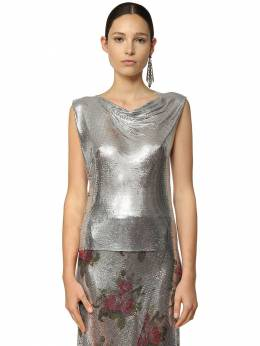 Draped Metal Mesh Top Paco Rabanne 71IMDQ053-UDA0MA2