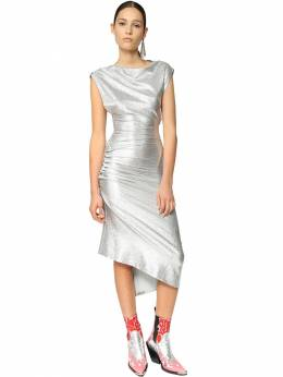 Draped Side Stretch Lurex Dress Paco Rabanne 71IMDQ038-UDA0MA2