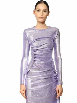 Stretch Lurex Top Paco Rabanne 71IMDQ036-UDUzMA2
